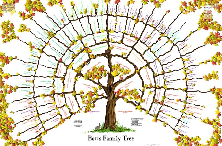*New 7 Gen Tree Fall Maple Leaf 24x36