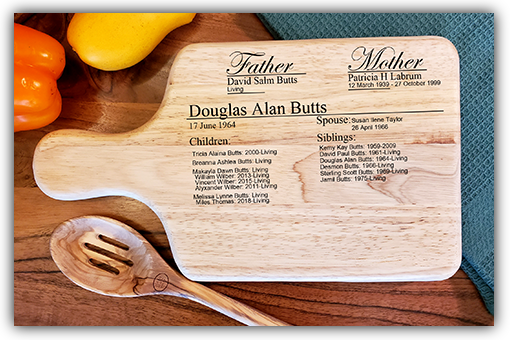 *New cutting board ancestor profile