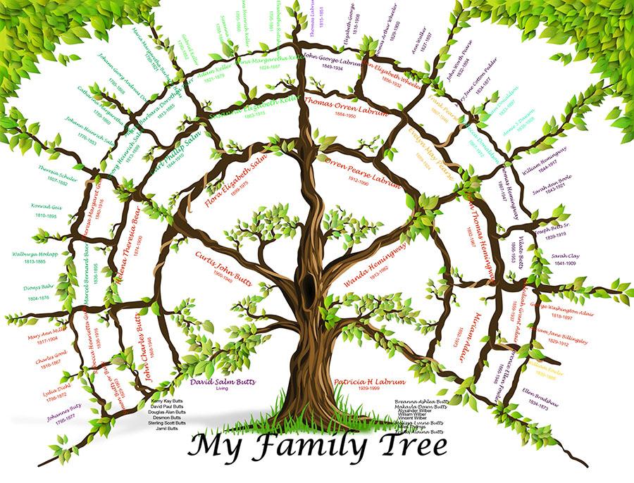 *New 7 Gen Tree 24x36