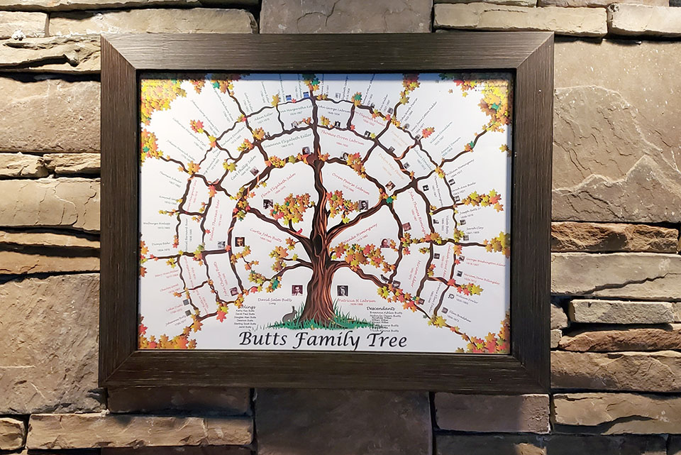 *New 6 Gen Picture Tree Maple Leaf 18x24